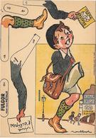 Publicité à Système à Découper - CREME ECLIPSE -  FULGOR  Illustrée Par POULBOT - Chromo       -  ECOLIER           N° 3 - Publicités