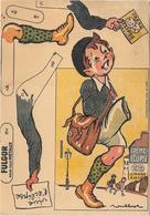 Publicité à Système à Découper - CREME ECLIPSE -  FULGOR  Illustrée Par POULBOT - Chromo - ECOLIER N° 3B  Bord Défraîchi - Publicités