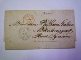 GP 2019 - 699  LETTRE Au Départ De POINTE-à-PITRE (Guadeloupe) à Destination De MAUBOURGUET  1853   XXXXX - Lettres & Documents