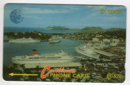 SAINTE LUCIE REF MV CARDS STL-9B Année 1993 20EC$ 9CSLB CRUISELINE - Santa Lucía