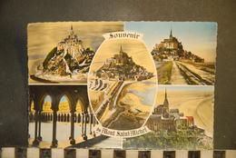 CP, 50, Souvenir Du MONT SAINT MICHEL Multivues N°63 Edition GREFF SERP - Le Mont Saint Michel