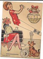 Publicité à Système à Découper - CREME ECLIPSE -  FULGOR Illustrée Par POULBOT - Chromo - MAMAN,BIBERON,BEBE,CHIEN - Publicités