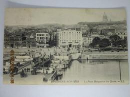 CPA 62 BOULOGNE Sur MER - Le Pont Marguet Et Les Quais , L'hôtel Christol  Vers 1910 - Boulogne Sur Mer