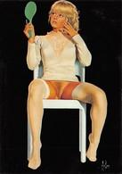 ASLAN - Miroir - Pin-Up - Nu Dessinée - Série Illustrateurs Nugeron N'H 273 - Aslan