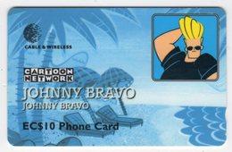 SAINTE LUCIE REF MV CARDS STL-277A Année 1999 10EC$ 277CSLA JOHNNY BRAVO - Sainte Lucie