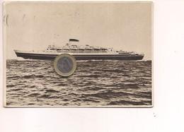 M8460 NAVI TURBONAVE CRISTOFORO COLOMBO 1961 VIAGGIATA - Commercio
