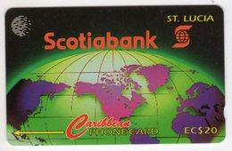 SAINTE LUCIE REF MV CARDS STL-16A Année 1995 20EC$ 16CSLA SCOTIABANK - Sainte Lucie