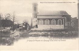 Exposition Universelle Et Internationale De Liège - L' Eglise St-Vincent Et Le Passage D' Eau Avant Les Travaux - Expositions
