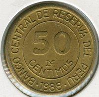 Pérou Peru 50 Centimos 1988 KM 295 - Pérou