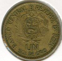 Pérou Peru 1 Sol 1965 400 Ans De La Monnaie De Lima KM 240 - Pérou