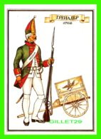 MILITARIA - SOLDAT RUSSE DE 1762 - CARTE AVEC DESCRIPTION EN 1985 - - Régiments