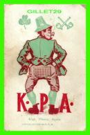HUMOUR, COMICS - K. P. A. - KICK, PLEASE, AGAIN - 1908 BY J. U. B. - - Humour