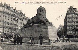 PARIS - Place Denfert Rochereau - Le Lion De Belfort - Arrondissement: 14