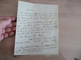 LAS Autographe Signée Frédéric Dollé 1843 Journalisme - Autographes