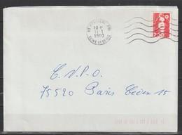 YT 2614 L 2,30F Rouge Briat, Sur Lettre 1er Jour De Tarif 11.01.90 - Varieties: 1990-99 Covers & Documents