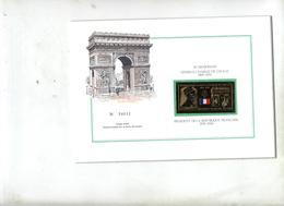 Plaquette Vignette Or En Memoire De Gaulle - De Gaulle (Général)