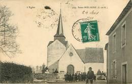Dép 35 - St Melaine - Saint Mélaine - Chateaubourg - L'église - état - Andere Gemeenten