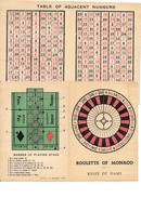 REGLE DU JEU - ROULETTE OF MONACO Avec TABLE OF ADJACENT NUMBERS - Other Collections