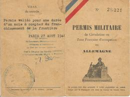Permis Militaire De Circulation En Zone Française D'Occupation En Allemagne 1946 - Documenti