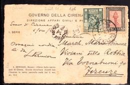 LIBIA 8 8 1929 CARTOLINA BENGASI MUSEO NECROPOLI DI CIRENE ERCOLE CARD FIRMATO SIGNED - Libya