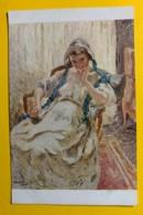 8141 - Femme Au Ruban Bleu D'Otto Vautier Peintre Suisse - Peintures & Tableaux