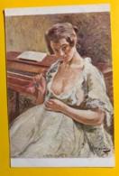 8142 - Femme à La Rose D'Otto Vautier Peintre Suisse - Peintures & Tableaux