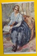 8144 - Femme à La Jupe Noire  D'Otto Vautier Peintre Suisse - Peintures & Tableaux