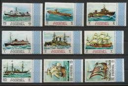 357i - Fujeira MNH ** Mi N° 234 / 242 A History Of Seafaring Bateau (bateaux Ship Ships) Bord De Feuille Cote 12 Euros - Ships