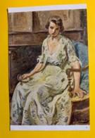 8145 - Le Collier De Perles  D'Otto Vautier Peintre Suisse - Peintures & Tableaux
