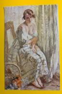 8146 - Vendeuse De Fleurs  D'Otto Vautier Peintre Suisse - Peintures & Tableaux