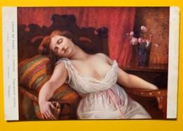 8150 - La Sieste De G.Courtois  Salon De Paris - Peintures & Tableaux