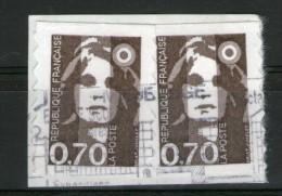 RARE-2 N° 2873° Sur  Fragment Et Même Oblitération_cote 16.00_(220514) - 1989-96 Bicentenial Marianne
