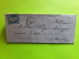 Lettre ST SAINT SATUR, Cher Mais Postée POUILLY S LOIRE Nièvre,  GC 3004 S Empire 22 , 30 Sept 1864 > Cosne - 1849-1876: Période Classique