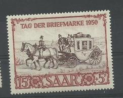 Sarre N° 270 Neuf** Tag Der Briefmarke, Cote YT 90€ - 1947-56 Occupation Alliée