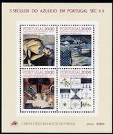 Portugal, 1985, 1649/57/65/75 Block 49, Azulejos, MNH ** - Blocks & Kleinbögen