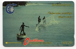 BARBADES CARAIBES MV Cards BAR-8B  20$ CN 8CBDB FISHERMEN OLD LOGO - Barbados