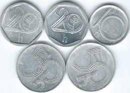 Czech Republic - 10 (1996 - KM6) 20 (1997 - KM2.1 & 2002 - KM2.3) & 50 Haléru (1995 - KM3.1 & 2001 - KM3.2) - Czech Republic