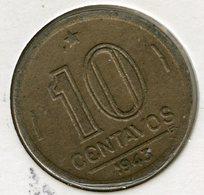 Brésil Brazil 10 Centavos 1943 KM 555 - Brazil