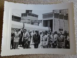 Ancienne Photo Inauguration Officielle De L'usine De Cadem Meknes Maroc - Lafarge 15 Mai 1953 - Profesiones