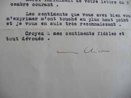Henri Chéron Politique  LAS Signée 13/12/1928 à Mr Diard Remerciements - Autogramme & Autographen