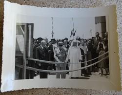 Ancienne Photo Inauguration Officielle De L'usine De Cadem Meknes Maroc - Lafarge 15 Mai 1953 Général Coupe Le Cordon - Métiers