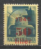 Hungary 1945. Scott #680 (M) Crown Of St. Stephen * - Hongrie
