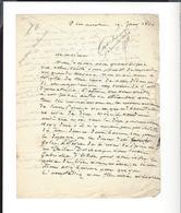 MME CHARLES DE LACRETELLE Lettre Autographe à M. Bocage , Directeur De L'Odéon  1842 - Autographs