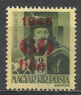 Hungary 1945. Scott #682 (M) Francis II Rakoczy * - Hongrie