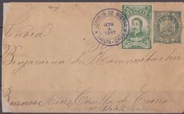 Bolivie, Bolivia Lettre Entier Postal 1897 Scan R/V. - Bolivie