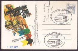 QY232   Germany 1977 IAAF Leichtathletik Welt Cup Düsseldorf - With Autographs - Atletiek