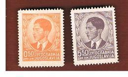 JUGOSLAVIA (YUGOSLAVIA)   - SG 415.420b -  1939 KING PETAR II  -    MINT** - Nuovi