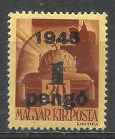 Hungary 1945. Scott #685 (M) Crown Of St. Stephen * - Hongrie