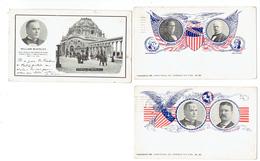 CPA - USA - LOT DE 3 CARTES - HOMMES POLITIQUES - 1900/1902 - Présidents