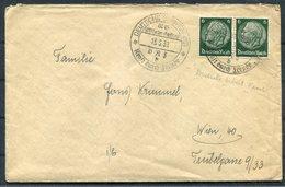 1939 Germany Deutsche Schiffspost D.A.S. Ship Kraft Durch Freude Cover - Wien Austria - Storia Postale
